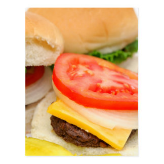 Mini Hamburgers Postcard