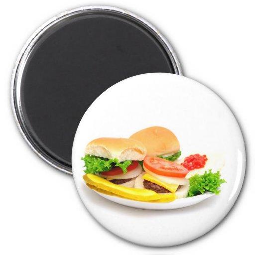 Mini hamburguesas imán redondo 5 cm