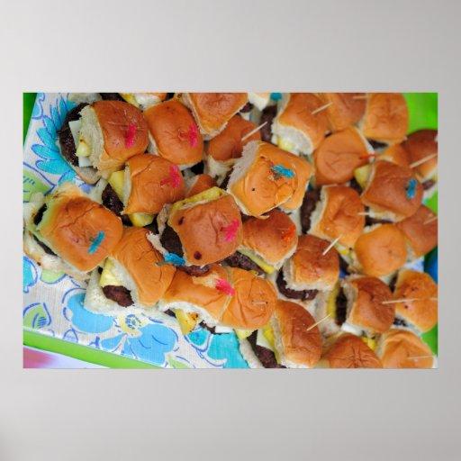 Mini hamburguesas póster