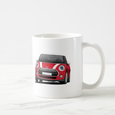 Mini Hatch Cooper (F56) 2 image mug, blue - white Coffee Mug ...