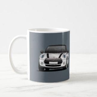 Mini Hatch Cooper S, 2 image mug, silver - black Coffee Mug