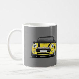 Mini Hatch Cooper S, 2 image mug, yellow - black Coffee Mug