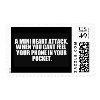 MINI HEART ATTACK WHEN CANT FEEL PHONE IN YOUR POC POSTAGE