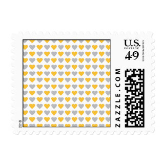 Mini Hearts Pattern Stamp in Yellow & Gray