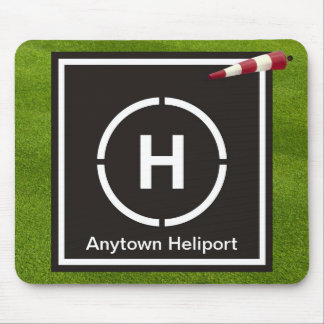 Mini helicopter landing pad - Anytown Heliport Mouse Pad