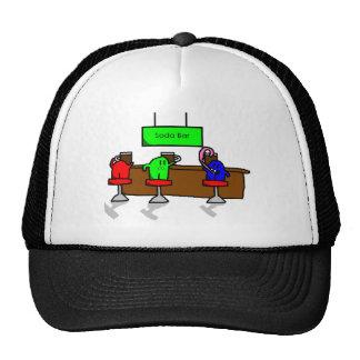 Mini hermanos en un gorra de la barra de la soda