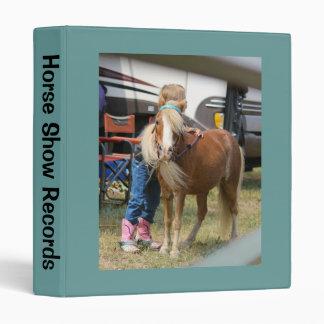 Mini Horse 3 Ring Binder