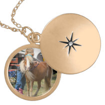 Mini Horse Gold Plated Necklace