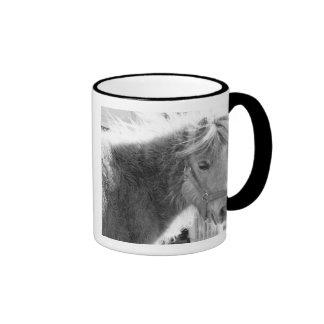 Mini Horse Ringer Coffee Mug