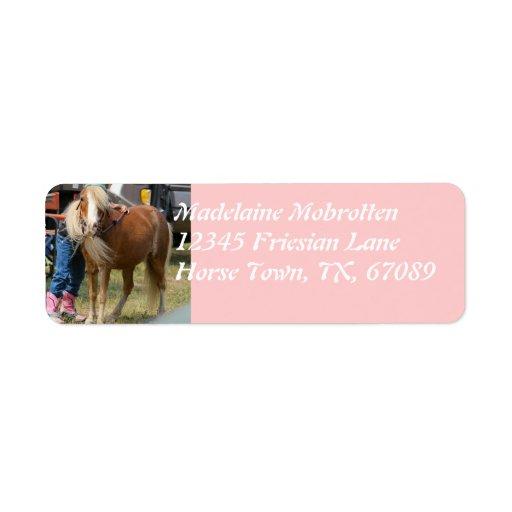 Mini Horse Return Address Label