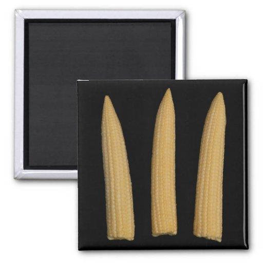 Mini imán del maíz en la mazorca