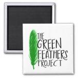 Mini imán del proyecto verde de las plumas