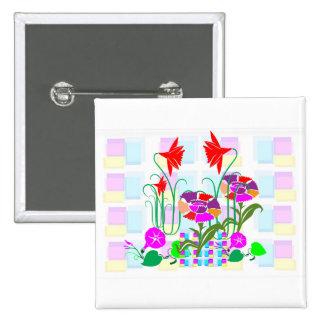 Mini jardín: Centro de flores Pin Cuadrado