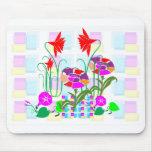 Mini jardín: Centro de flores Alfombrillas De Ratones