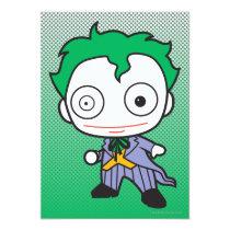 justice leauge, super hero, batman, robin, superman, cyborg, joker, chibi, japanese, toy, dc comics, comic book, Invitation with custom graphic design