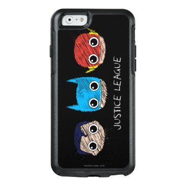 Mini Justice League Heads Sketch OtterBox iPhone 6/6s Case