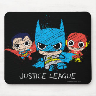 Mini Justice League Sketch Mouse Pad