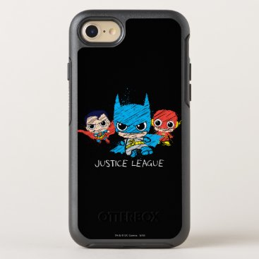 Mini Justice League Sketch OtterBox Symmetry iPhone 8/7 Case