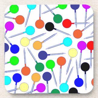 Mini Knob Head Pins Coaster