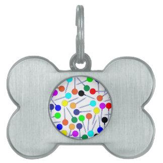 Mini Knob Head Pins Pet Name Tag