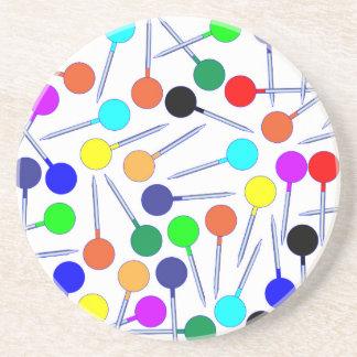 Mini Knob Head Pins Sandstone Coaster