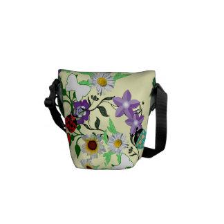 Mini-Ladybug Garden monogrammed Messenger Bag
