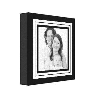 Mini lona de la familia blanco y negro intrépida lienzo envuelto para galerias