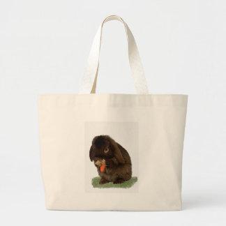 Mini Lop Bunny and carrot Jumbo Tote Bag
