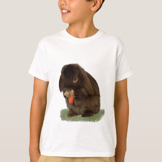 Mini Lop Bunny and carrot T-Shirt