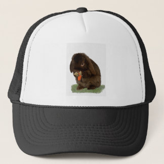 Mini Lop Bunny and carrot Trucker Hat