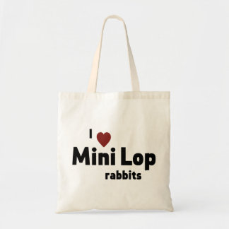 Mini Lop rabbit Budget Tote Bag