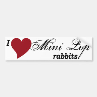 Mini Lop rabbit Bumper Sticker
