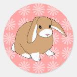Mini Lop Rabbit Classic Round Sticker
