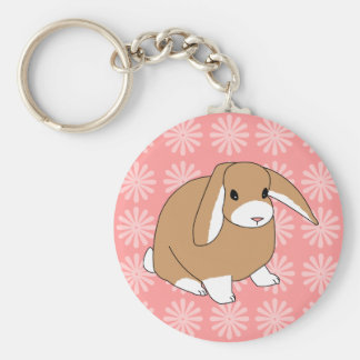 Mini Lop Rabbit Keychain
