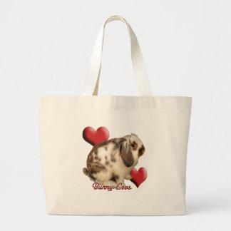 Mini-Lop rabbit Large Tote Bag