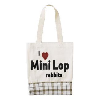 Mini Lop rabbit Zazzle HEART Tote Bag