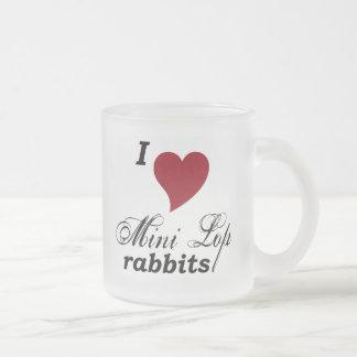 Mini Lop rabbits mug Frosted Glass Mug