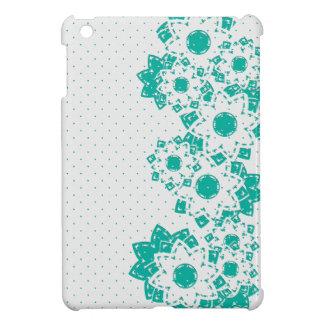 mini lunar y flores del caso del iPad