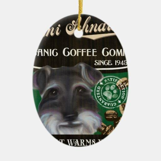 Mini marca del Schnauzer - Organic Coffee Company Ornamentos De Reyes
