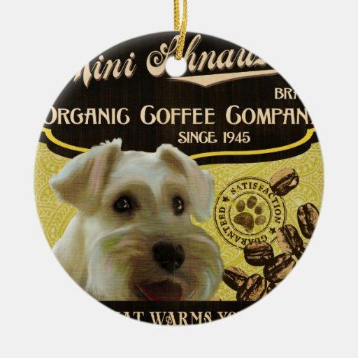 Mini marca del Schnauzer - Organic Coffee Company Adornos