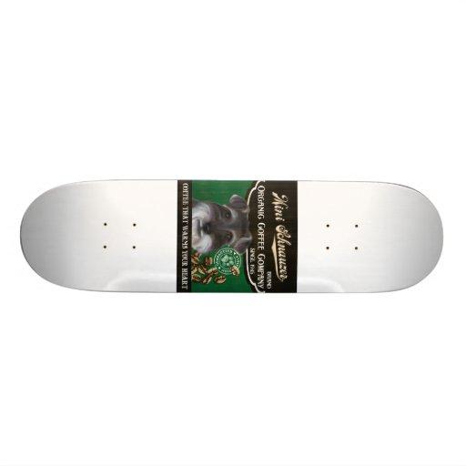 Mini marca del Schnauzer - Organic Coffee Company Tablas De Skate