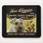 Mini marca del Schnauzer - Organic Coffee Company Alfombrilla De Ratones