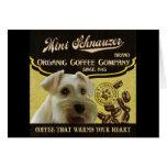 Mini marca del Schnauzer - Organic Coffee Company Tarjeton