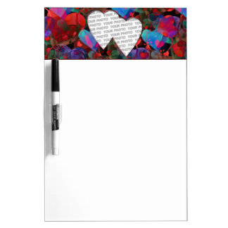 Mini marco IV del corazón + su foto y ideas Tableros Blancos