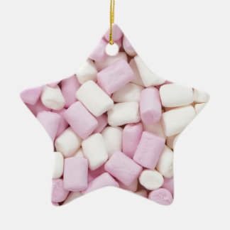 Mini marshmallows ceramic ornament