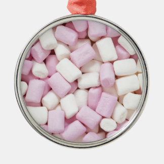 Mini marshmallows metal ornament