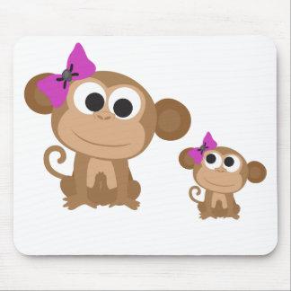 Mini me monkey mouse pad