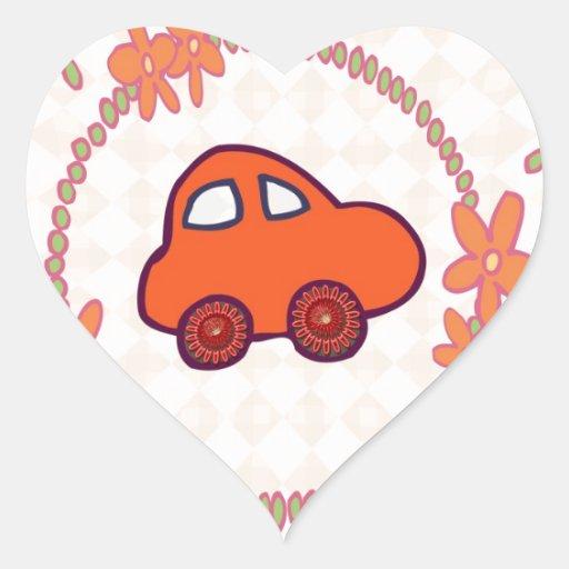 Mini Mini Car Heart Sticker
