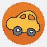 Mini mini coche etiqueta redonda