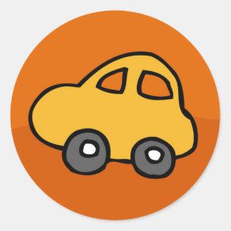 Mini mini coche pegatina redonda